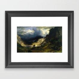 Albert Bierstadt - A Storm in the Rocky Mountains, Mt. Rosalie Framed Art Print