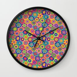 Millefiori-Crayon Colors Wall Clock