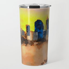 Sunset Skyline Of Brisbane City And Brisbane River Travel Mug