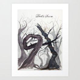 Devil's Snare Botanical Art Art Print