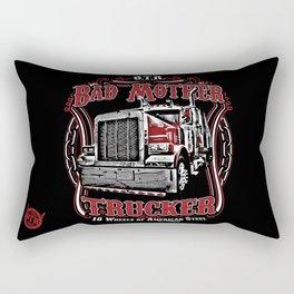 Bad Mother Trucker Rectangular Pillow