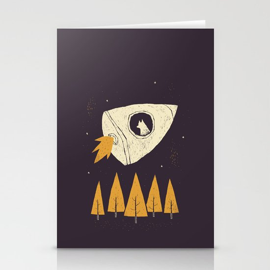 laika(purple) Stationery Cards