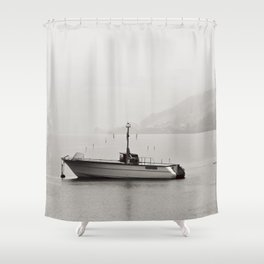 Opposite directions Shower Curtain