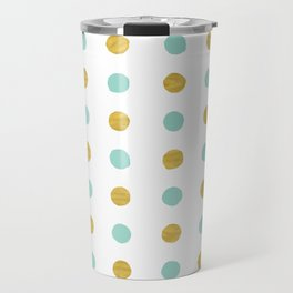 Dalmatian - Sea Foam & Gold Foil #622 Travel Mug