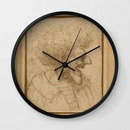 Laughing man - Leonardo Da Vinci Wall Clock