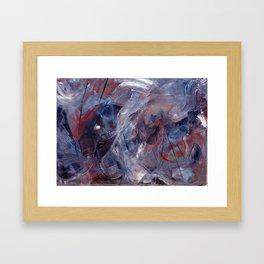 oil abstract on 50 x 70 cm canvas Framed Art Print
