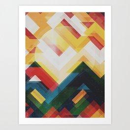 Mountain of energy Art Print
