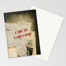 Murder Board Stationery Cards