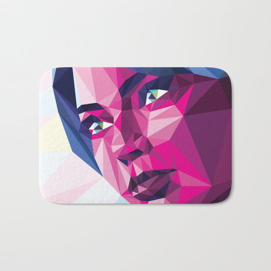 Magenta girl Bath Mat