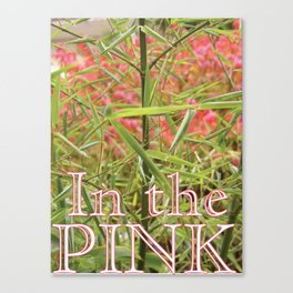 In the PINK Canvas Print
