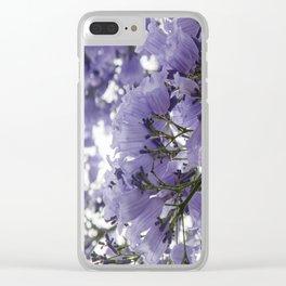 It's Raining Purple Cups Clear iPhone Case