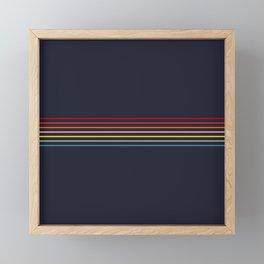 Polychrome Retro Stripes Framed Mini Art Print