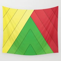 rasta Wall Tapestries featuring Rasta Triangles by Arlo @ Creative Konzepts