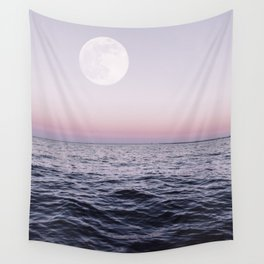 Ocean Moon Sunset Wall Tapestry