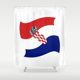 Flag of croatia 4 -croatian, Hrvatska,croat,croacia,Zagreb,split,rijeka,osijek. Shower Curtain