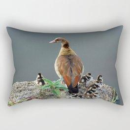 Egyptian Goose and Goslings Rectangular Pillow