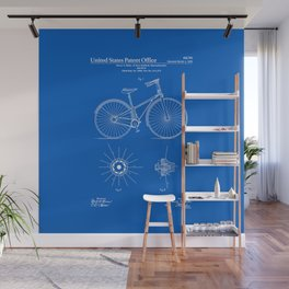 Bicycle Patent - Blueprint Wall Mural