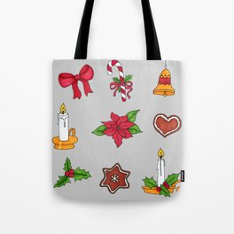 Christmas pattern (#2 grey) Tote Bag