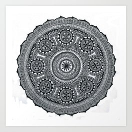 Aztec style mandala Art Print