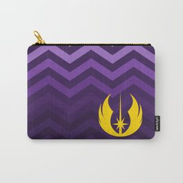 Jedi Order in Gold On Purple Ombre Chevrons Carry-All Pouch