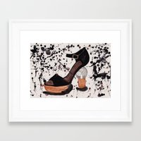 shoe Framed Art Prints featuring Shoe by Melania B
