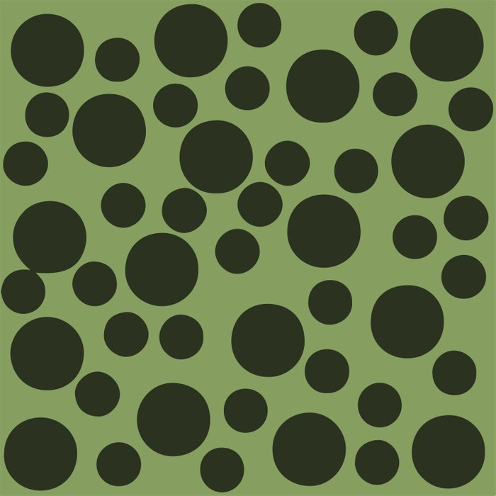 Army Green Dots Duvet Cover