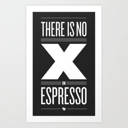 No X in Espresso – Dark Grey Art Print