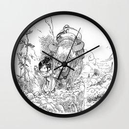 Promenade dans la montagne - Walking in the mountains Wall Clock