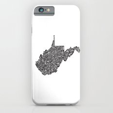 Typographic West Virginia Slim Case iPhone 6