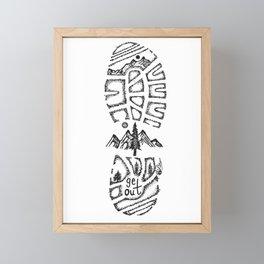 """Tread Lightly""  Hand-Drawn by Dark Mountain Arts Framed Mini Art Print"