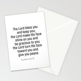Numbers 6 24 #bibleverse #scriptures #blessing Stationery Cards