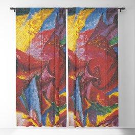 Umberto Boccioni Plastische Formen Eines Pferdes 1913 Blackout Curtain