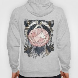 polygonal raccoon Hoody