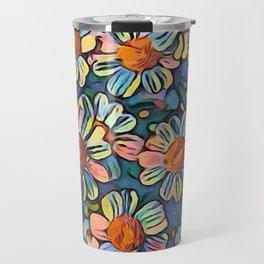 Rainbow Aster Daisies Travel Mug