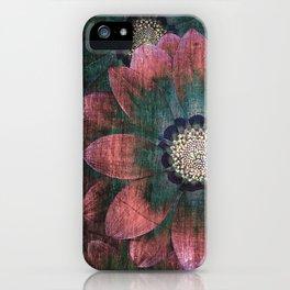 hippie flowers iPhone Case