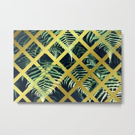 Fern Geometric Modern Illustration Metal Print
