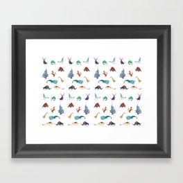Animals kingdom Framed Art Print