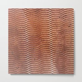 Copper wave Metal Print