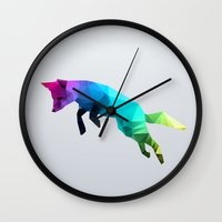glass Wall Clocks featuring Glass Animal - Flying Fox by Three of the Possessed