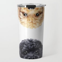 Toy poodle Blond & Black Travel Mug