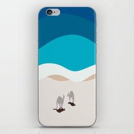Kangaroos on the Beach in Australia | Aerial Illustration  iPhone Skin