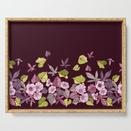 Sweet Potato Floral Border Serving Tray