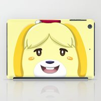 animal crossing iPad Cases featuring Animal Crossing Isabelle by ZiggyPasta