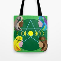 goddess Tote Bags featuring Goddess by Watch House Design