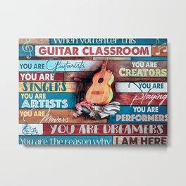 Guitar Guitar Classroom Metal Print
