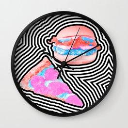 Pizza Burger Dazzle Wall Clock