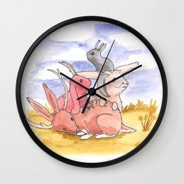 Jackalope Pile Wall Clock