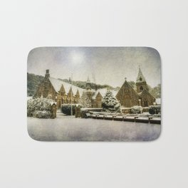 Priory In The Snow Bath Mat
