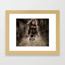 Kneel Or Die Framed Art Print
