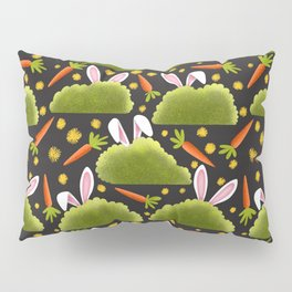 Rabbits and Carrots Pattern | Illustration Pillow Sham
